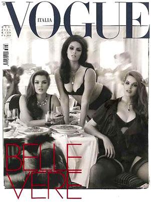 Belas de verdade: Vogue italiana de junho trás três modelos Plus ...