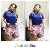 Look do Dia: short saia